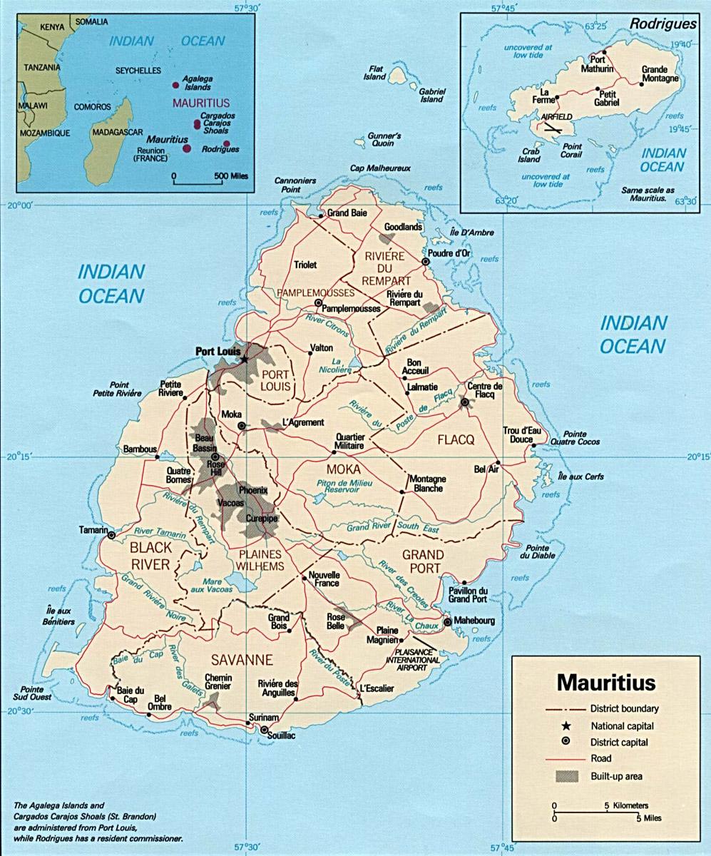 carte administrative ile maurice   Carte monde.org