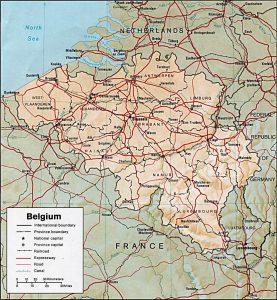 belgique carte