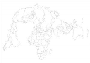 bertin - blank map world