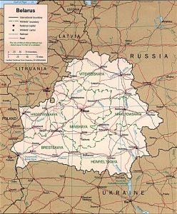 Political map of Belarus