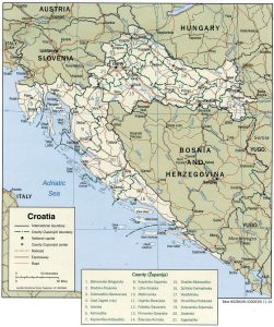 political map of Croatia