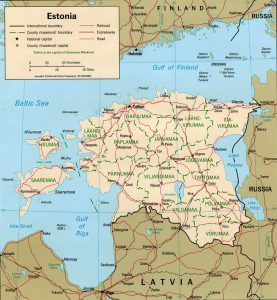 Estonia's political map