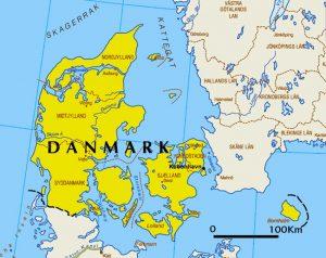 general map of Denmark