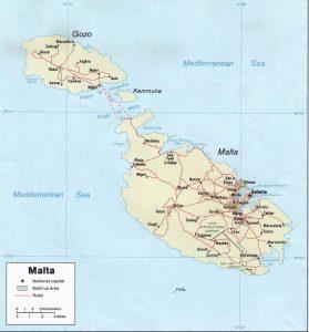 Malta's political map