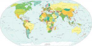Mappa politica del mondo : i paesi