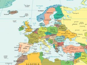 Global map of Europe