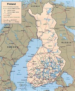 Political map of Finland