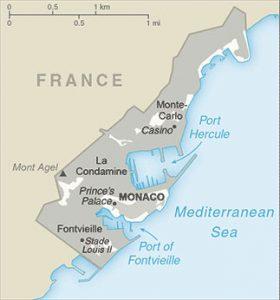 general map of Monaco