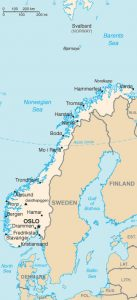 general map of Norway