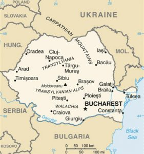 General map of Romania