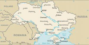 Mappa generale di Ucraina