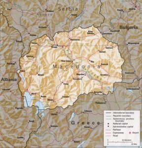Map of Macedonia relief