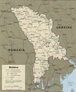 political map of Moldova