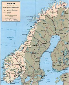 Political map of Norway
