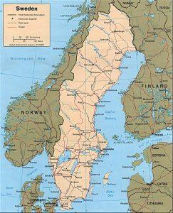 Political map of Sweden