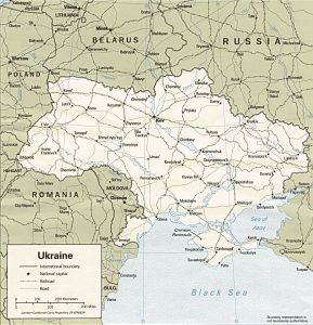 Mappa politica di Ucraina