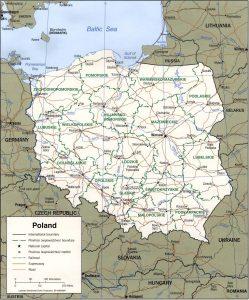 Poland's political map