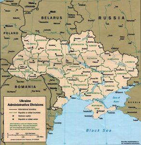 Mappa delle province di Ucraina