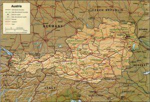 Relief Map of Austria