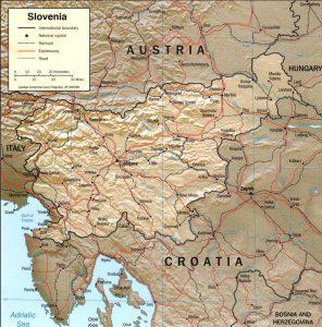 Slovenia terrain map