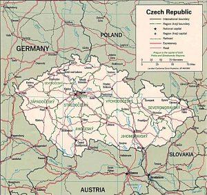 political map of the Czech Republic