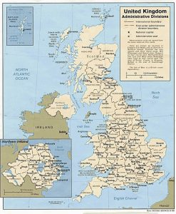 Administrative Map of UK