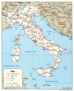 general map of Italy