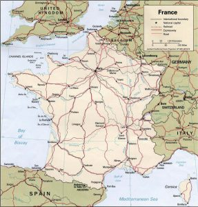 General Map of France