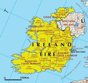 administrative map of Ireland