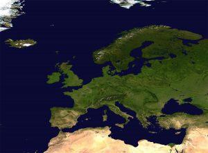 Satellite view of Europe (1500 x 1111)