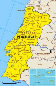 general map of Portugal