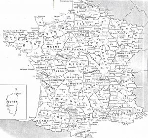 Map of French historical regions