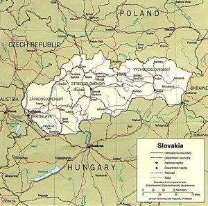 Administrative Map of Slovakia