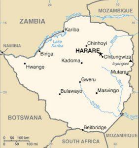 Carte du Zimbabwe